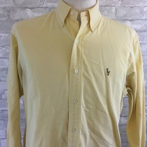 12b6dfa8 ... Shirt Multicolor Striped Polo by Ralph Lauren Yellow Mens Size 15 1/2 32